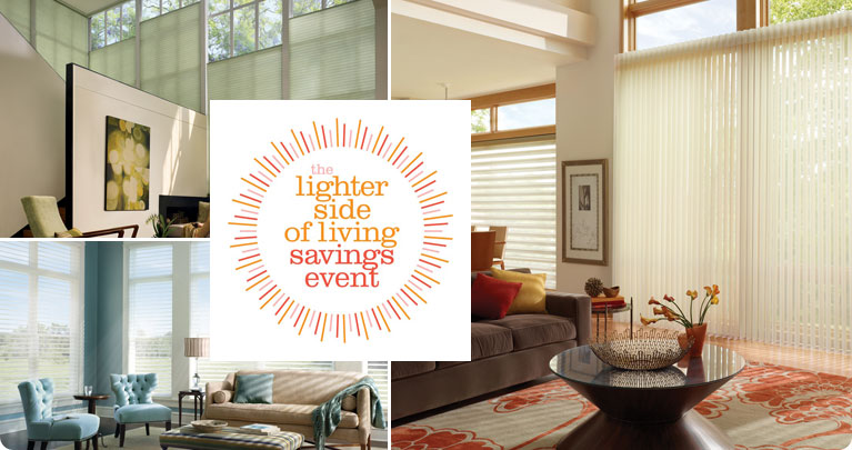 Hunter Douglas Lighter Side of Living Sales Event